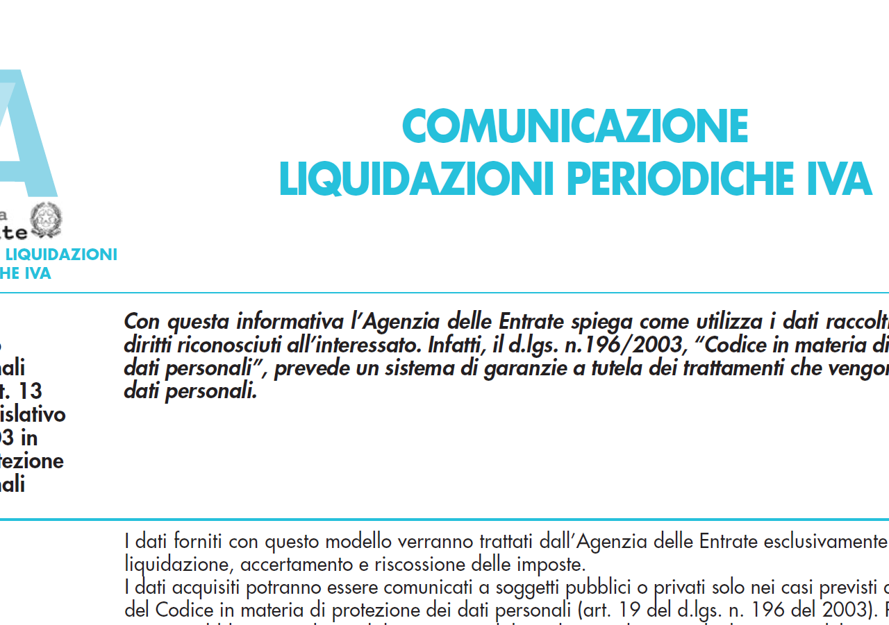 Comunicazione liquidazioni periodiche iva a zero